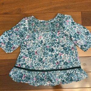 Toddler girl floral blouse size 3T
